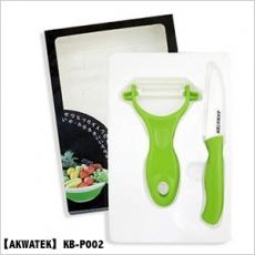 【AKWATEK】陶瓷刀+陶瓷削皮器(KB-P002)