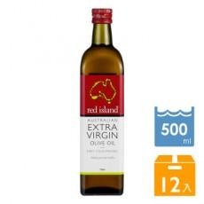 澳洲red island(紅島)特級冷壓初榨橄欖油500ml-12入