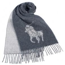 【RALPH LAUREN POLO 】新款經典大馬圖徽保暖圍巾(灰色)780913-1