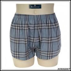 【BURBERRY】經典正格紋四角褲-藍色M(085195-7)