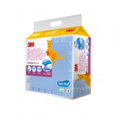 【3M】Safe+ 寶貝安全防撞巧拼地墊(藍色/32x32cm 6片/包)4包組