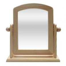 松木 桌上旋轉鏡28X25cm(S) 原木/棕色 (隨機不挑色)