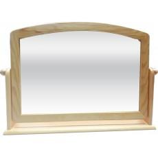 松木 桌上旋轉鏡58x37cm(L) 棕色