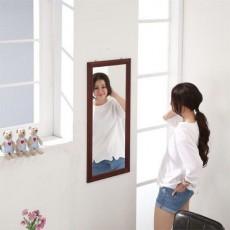 松木 壁掛鏡30x60cm 棕色