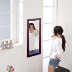 松木 壁掛鏡30x60cm 黑色